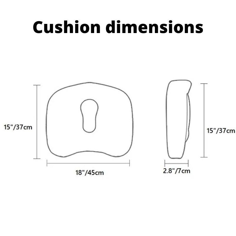 Orthopedic Coccyx Cushion size dimensions