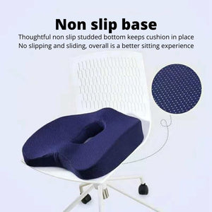 Orthopedic Coccyx Cushion with non slip rubber studded bottom