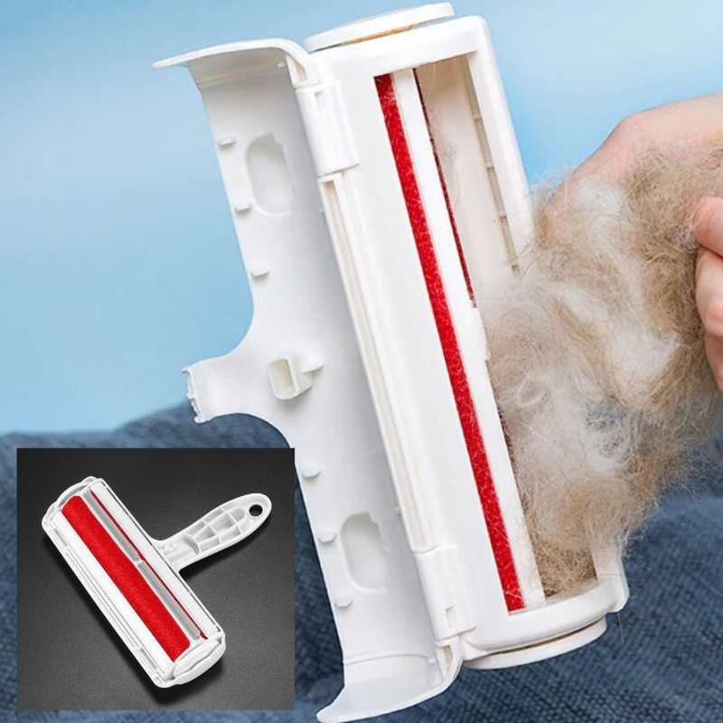 pet hair remover storage compartment to remove collected pet hair