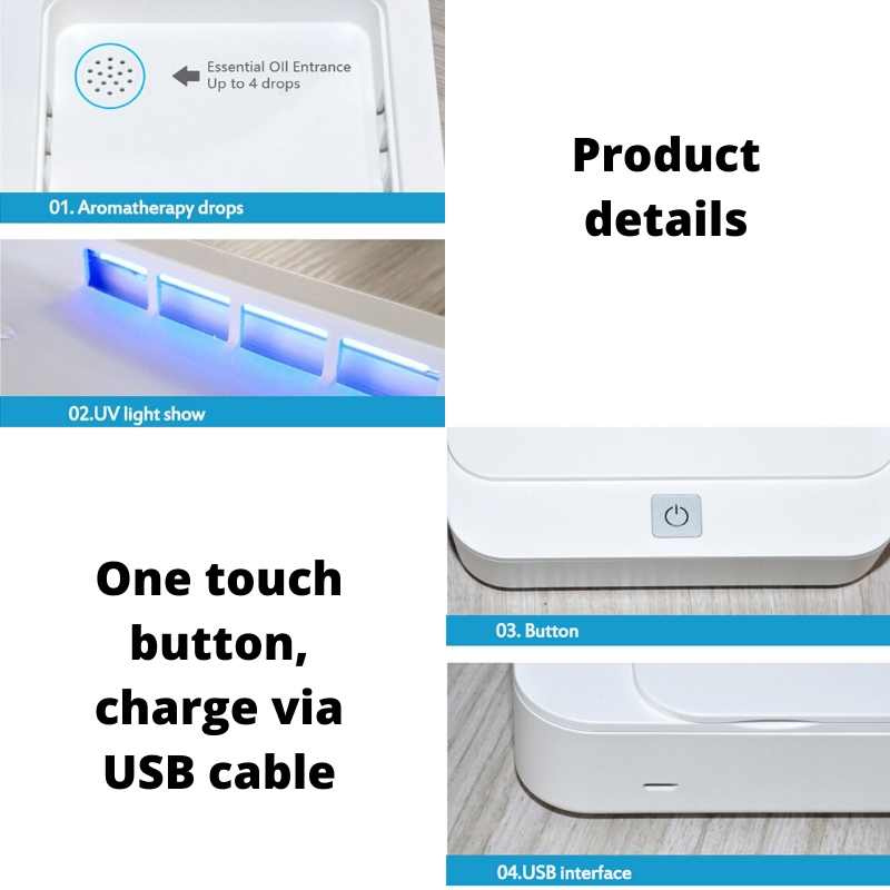 Portable UV Sterilizer | Phone Sanitizer & Household Items | Kills Germs