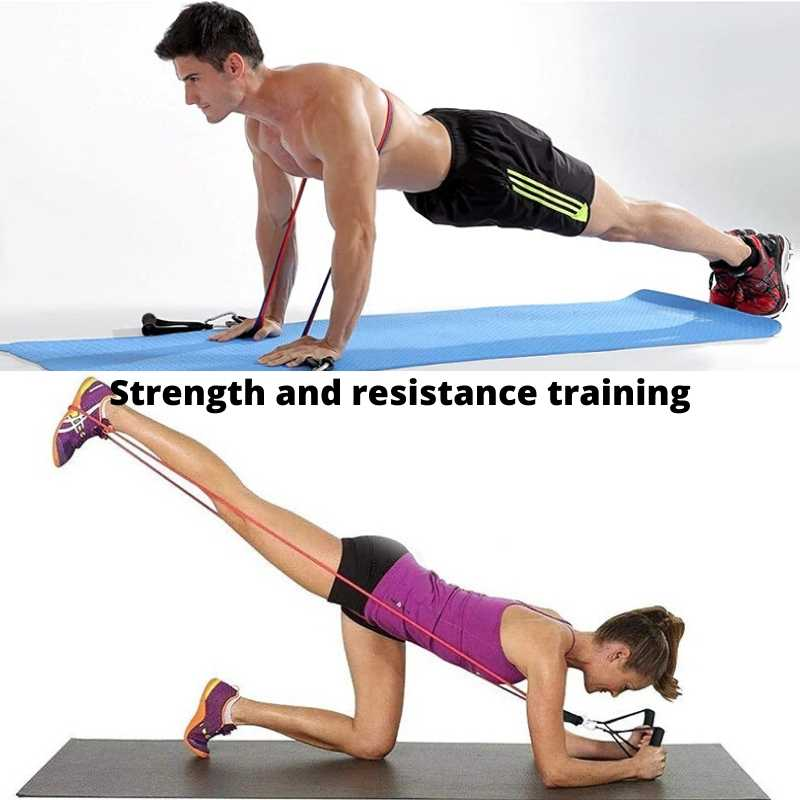 Tension resistance band can be used for men and women for strength and resistance training