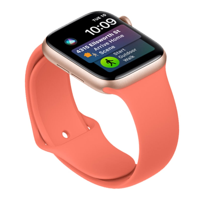 Apple Watch silicone sport band in clementine