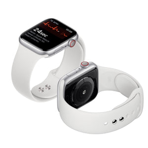 Apple Watch silicone sport band in white