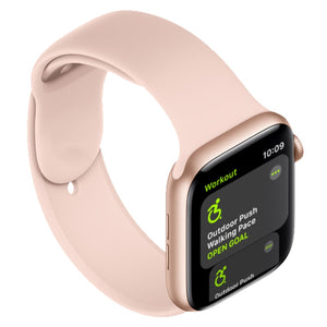 Apple Watch silicone sport band in pink sand