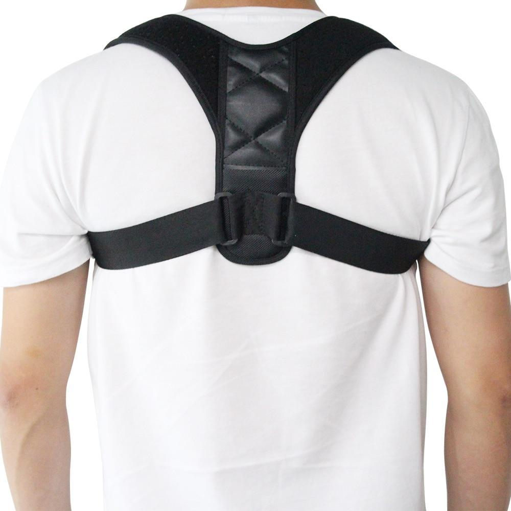 Man showing his back, wearing the unisex posture corrector by leBoosh!