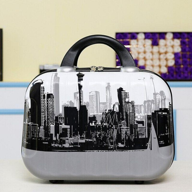 Hardshell Toiletry Bag for Women with city graphics