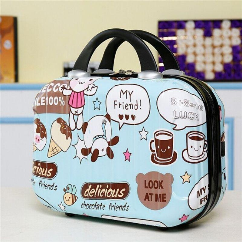 Hardshell Toiletry Bag for Women in cartoon graphics