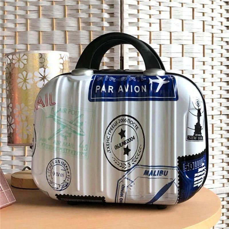 Hardshell Toiletry Bag for Women with airmail graphics