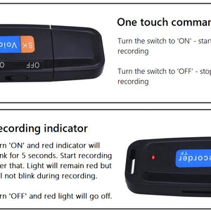 Features of the discreet USB Recorder