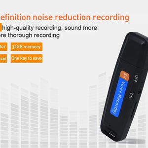 Discreet USB recorder in black