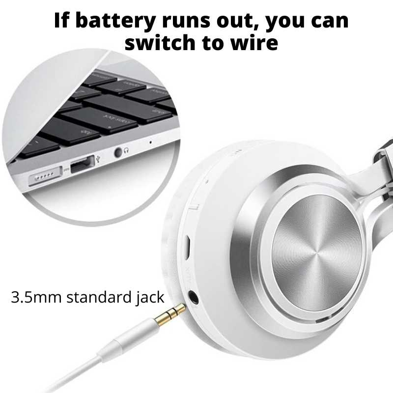 3.5mm standard jack being use to swtich from wireless to wired headphone