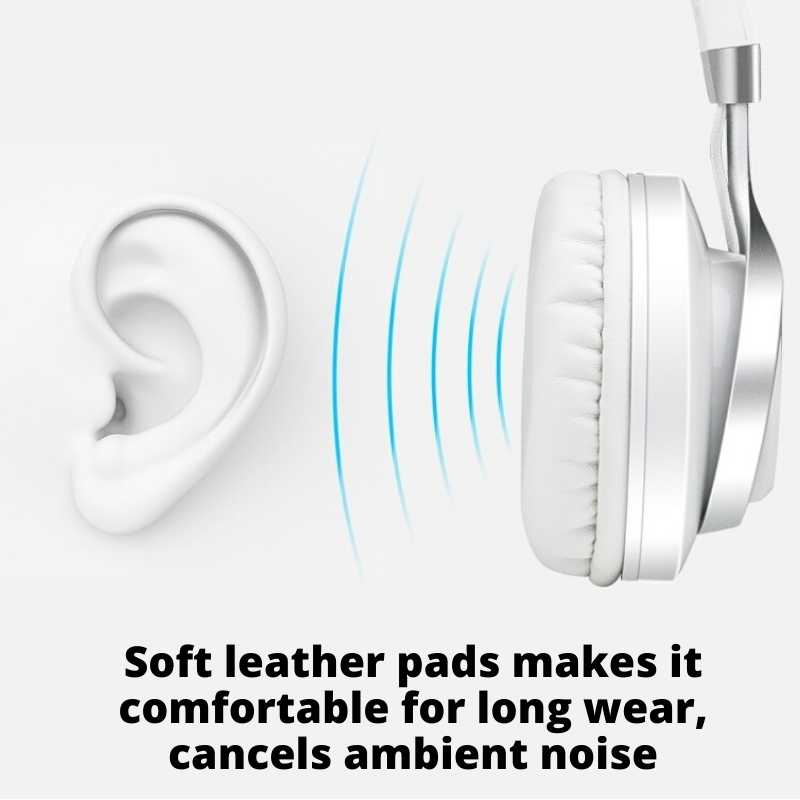 Soft leather pads for on ear headphones
