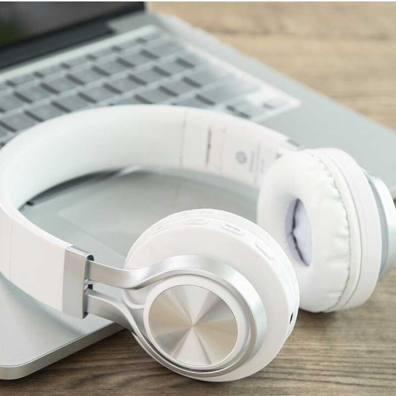 White wireless headphones
