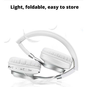 portable, light human headhone, white  headphones