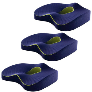 Navy Orthopedic Coccyx Cushion - 3 pieces