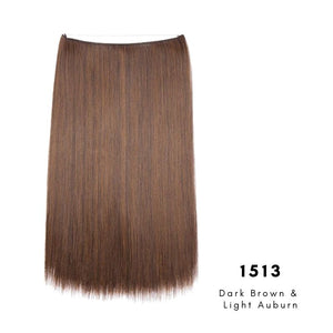 Invisible Wire Halo Hair Extension in dark brown and light auburn