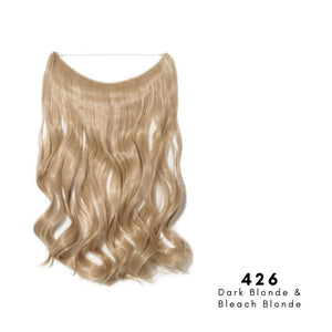 Invisible Wire Halo Hair Extension in Dark Blonde & Bleach Blonde, ref 426