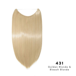 Invisible Wire Halo Hair Extension in Golden Blonde & Bleach Blonde, ref 431