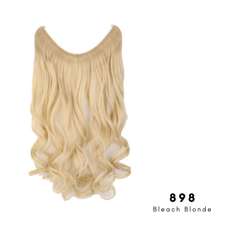 Invisible Wire Halo Hair Extension in Bleach Blonde, ref 898