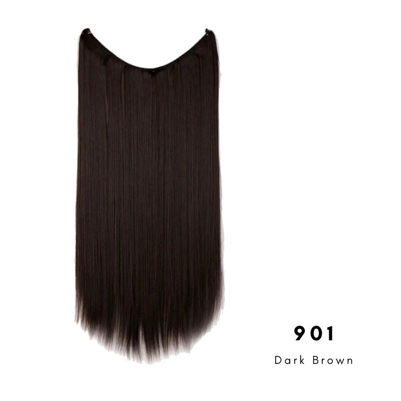 Invisible Wire Halo Hair Extension in dark brown