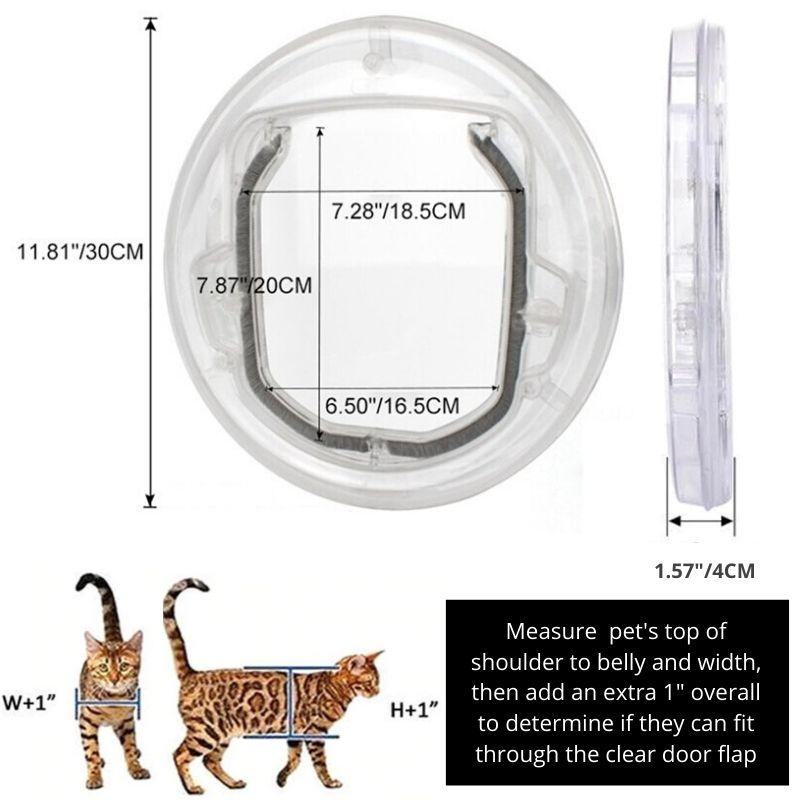 Transparent Pet Door size dimensions