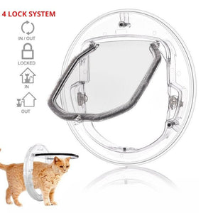 Transparent Pet Door  with 4 way lock system