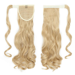 Blonde color Clip In Ponytail Hair Extension