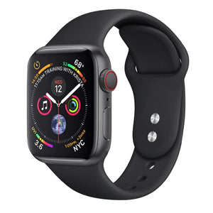 Apple Watch silicone sport band in black