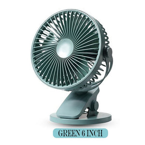 Green rechargeable personal fan