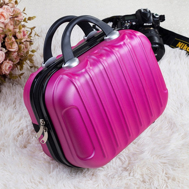 Hardshell Toiletry Bag for Women in fuchsia