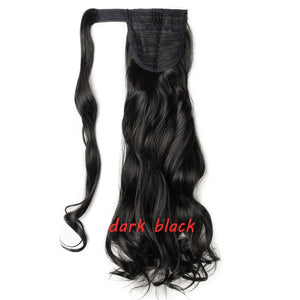 Clip In Ponytail Hair Extension in dark black