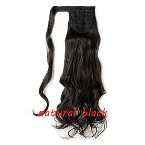 Clip In Ponytail Hair Extension in natural black