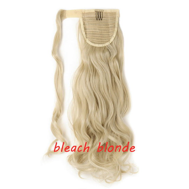 Clip In Ponytail Hair Extension in beach blonde