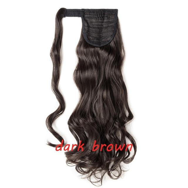 Clip In Ponytail Hair Extension in dark brown