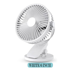 White rechargeable personal fan