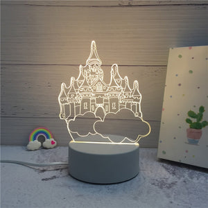 3D LED ambient night light - castle