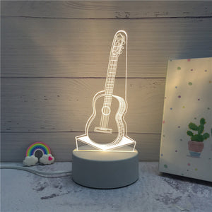 3D LED ambient night light - guitar