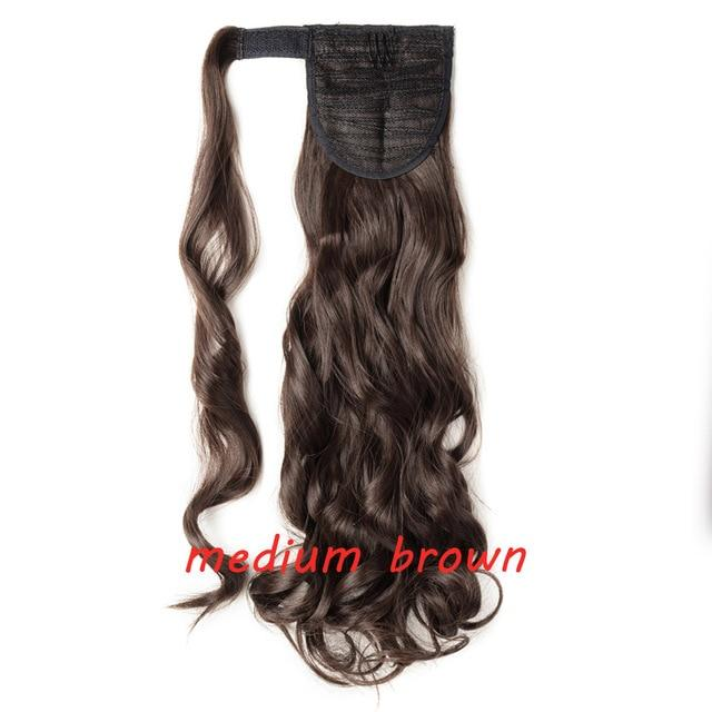 Clip In Ponytail Hair Extension in medium brown