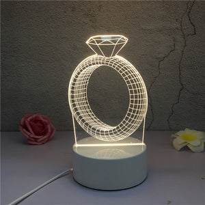 3D LED ambient night light - ring