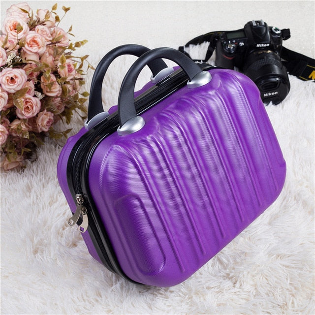 Hardshell Toiletry Bag for Women in purple