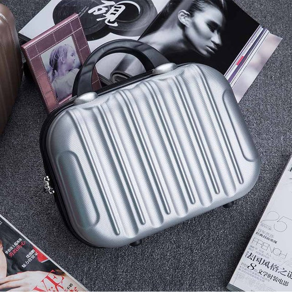Hardshell Toiletry Bag for Women in silver