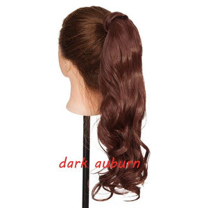 Clip In Ponytail Hair Extension in dark auburn