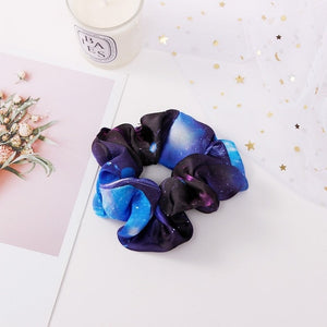 Celestial dark blue scrunchie