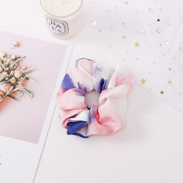 Pinkish blue scrunchie