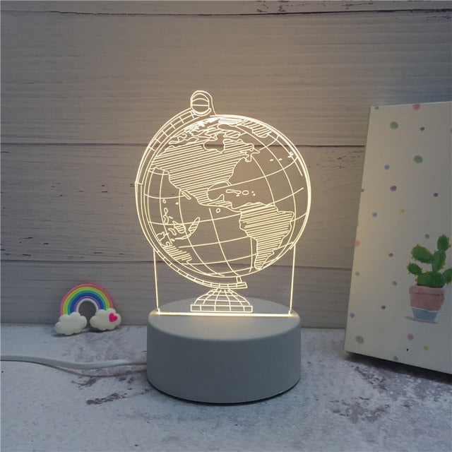 3D LED ambient night light - earth