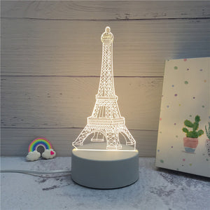 3D LED ambient night light - Eiffel Tower