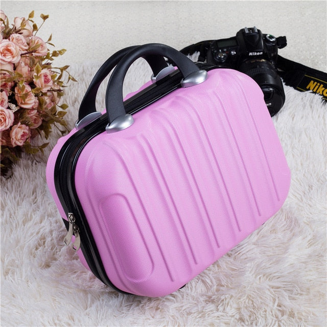 Hardshell Toiletry Bag for Women in pink