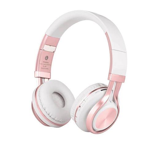 Pink wireless headphone, pink bluetooth headphone