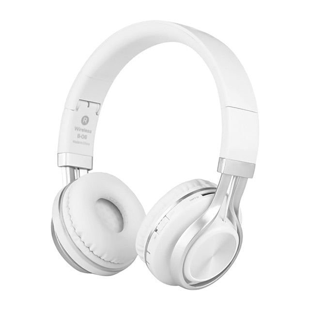 White headphone, white wireless headphone