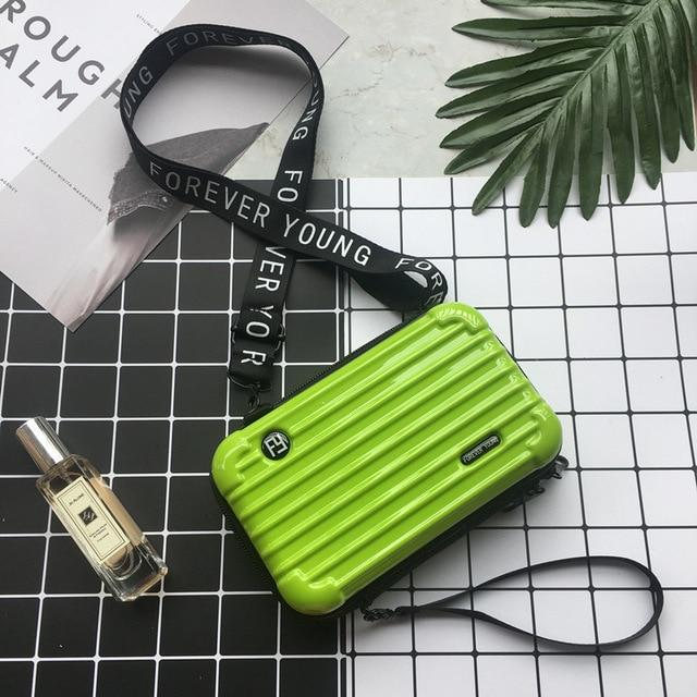Mini Suitcase Shaped Crossbody Handbag & Clutch-Mojito Bright Green
